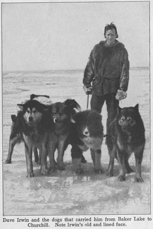 Dave Irwin and the dogs that carried him from Baker Lake to Churchill